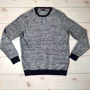 Tommy Hilfiger Blue & Gray Marled Sweater XXL